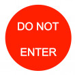 Do not enter sign — Stock Vector