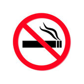 No smokimg sign on white background — Stock Vector