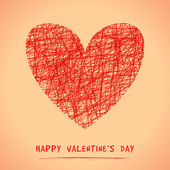 Happy Valentine's Day Greeting Card. Vector illustration — ストックベクタ