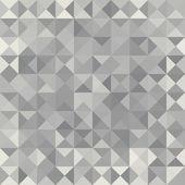 Retro pattern of geometric shapes. Grey mosaic banner. — Cтоковый вектор