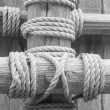 Old wood and old rope — Stock Photo #41011459