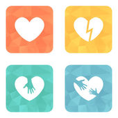 Different heart icons collection — Stock Vector