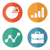 Business Icons. Vector illustration. — Stock Vector