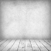 Black and white dark room empty interior — Stock Photo