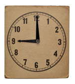 Time on old wall clock nine pm. Isolated from background — Stock Photo