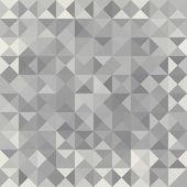 Retro pattern of geometric shapes.  Grey mosaic banner. — Stock Vector