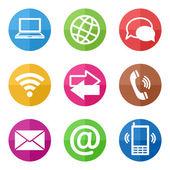 Color circular communication icons — Stock vektor