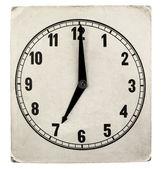 Vintage weathered paper clock face — ストック写真