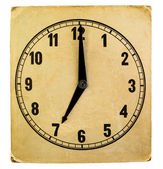 Vintage weathered paper clock face — Stock Photo