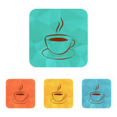 Kopje warme drank icon (koffie, thee, cacao, chocolade, enz) — Stockvector