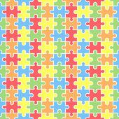 Jigsaw seamless puzzle blank template. — 图库矢量图片