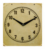Time on old wall clock ten hours ten minutes — Stock Photo