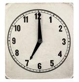Annata weathered quadrante di orologio di carta — Foto Stock