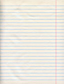 Notebook Paper — Stock Photo