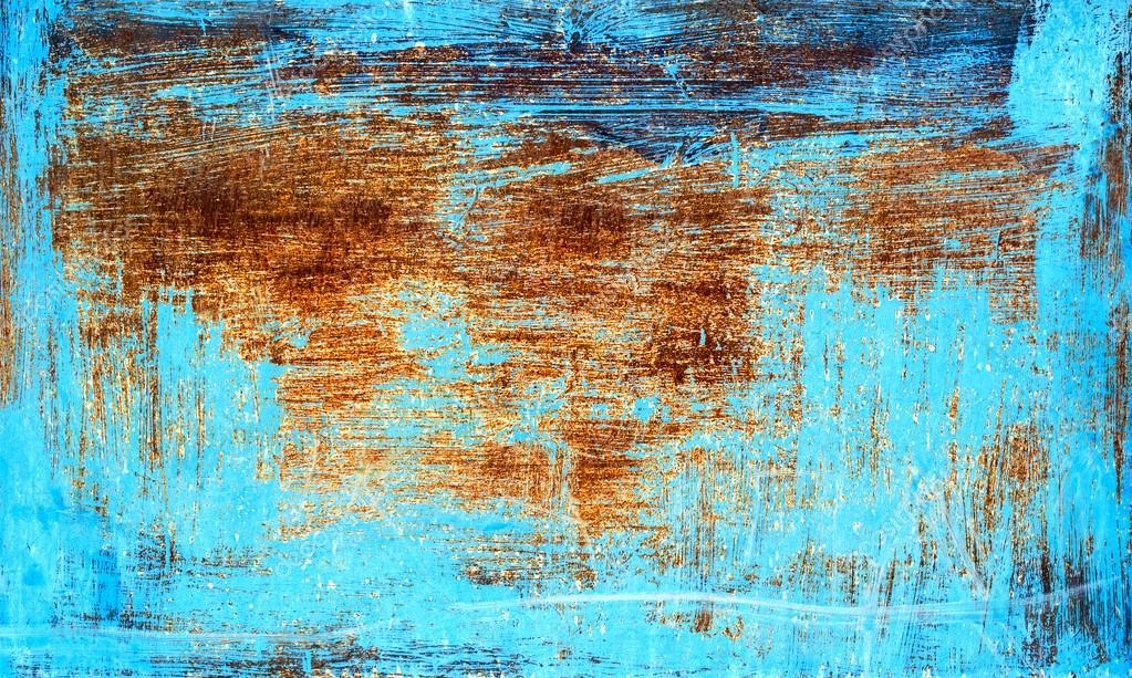vieux rouill texture en m tal peint avec peinture bleue photographie binik1 48088765. Black Bedroom Furniture Sets. Home Design Ideas