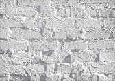 Fondo de pared de ladrillo blanco grunge — Foto de Stock