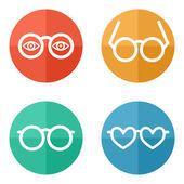 Glasses set - vector illustration — Stock Vector