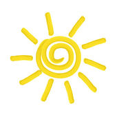 Painted sun - vector illustration — Stock Vector