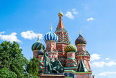 Saint Basil Cathedral, in the Red Square of Moscow — Stock Photo