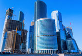 Skyscrapers of business center in Moscow — Stock Photo