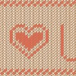 Vector knitted background. I love you pattern — Stock Vector #50636637
