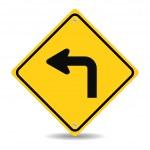 Turn left traffic sign — Stock Vector #50876147