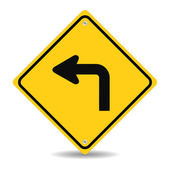 Turn left traffic sign — Stockvector