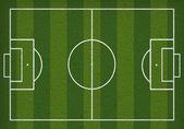 Fotbalové hřiště. — Stock fotografie