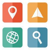 Localização de ícones de viagem — Vetor de Stock