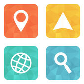Location travelling icons — Stock Vector