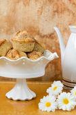 用苹果的小松饼 — 图库照片