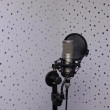 Studio Microphone in a sound recording studio — Stock Photo