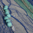 Stock Photo: Close up view of fishing net