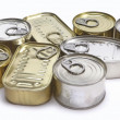 Tins of different sizes — Stock Photo