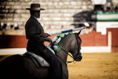 Bullfighter on horseback spanish, Spain — Stock Photo
