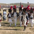 French troops parading on the battlefield during the Representation of the Battle of Bailen — Stock Photo