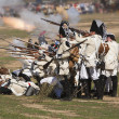 French soldiers shooting the enemy in Representation of the Battle of Bailen — Stock Photo