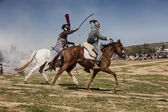 Bandit in the commemoration of the battle of Bailen — Stock Photo
