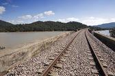 Línea ferroviaria abandonada — Foto de Stock