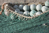 Close up view of fishing net — Stock Photo