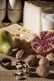 Breakfast with mediterranean food — Stock Photo