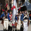 Stock Photo: French soldiers marching in commemoration of battle of Bailen