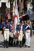 French soldiers marching in the commemoration of the battle of Bailen — Stock Photo