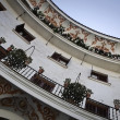 Detail of the coontemporary building in the square of Cabildo, Seville — Stock Photo