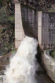Spillway of the dam of the Yeguas — Stock Photo