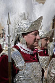 Roman soldiers, called Armaos, of El Nazareno brotherhood, Good Friday — Stock Photo