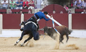 Antonio Manzanares, bullfighter on horseback spanish — Stock Photo