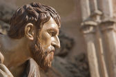 Figure carved in wood of Judas Iscariot — Stock Photo