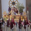 Brotherhood of Jesus in his apprehension by initiating its output in a procession of St. Augustine's church — ストック写真