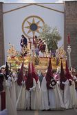 Brotherhood of Jesus in his apprehension by initiating its output in a procession of St. Augustine's church — Stock Photo